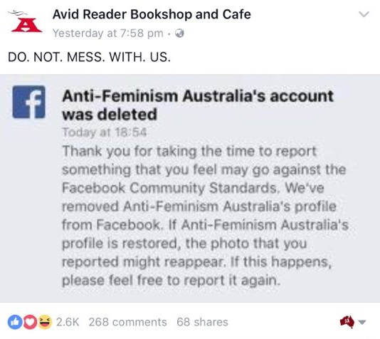 Feminists take down AFA Facebook page