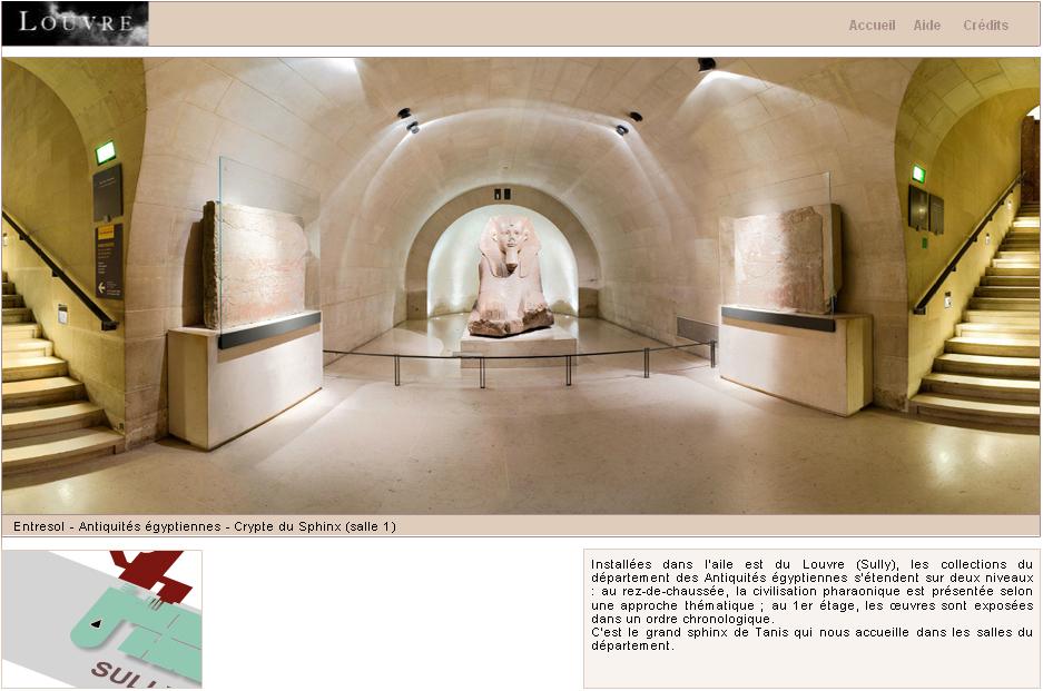 Resultado de imagem para tour virtual louvre egipcia