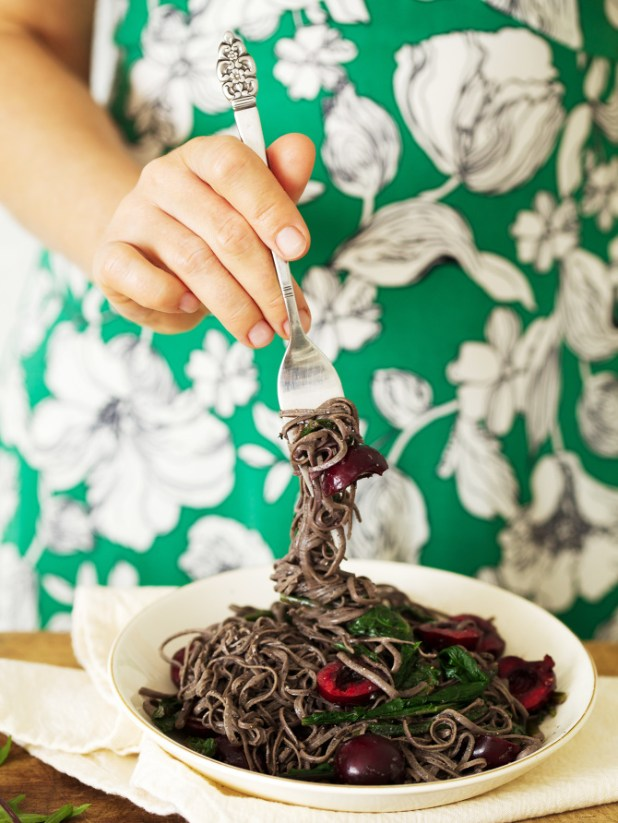 black-bean-pasta-with-cherry-dandelion