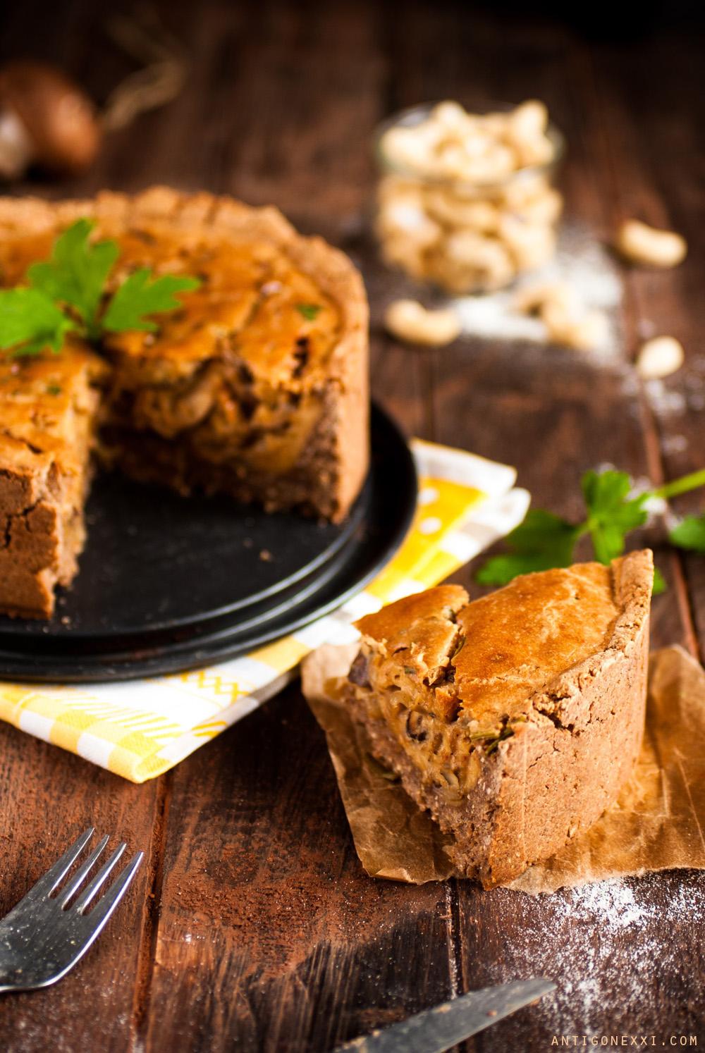 Une délicieuse quiche au fromage #vegan et #sansgluten ! Idéale pour les piques-niques !| antigone21.com
