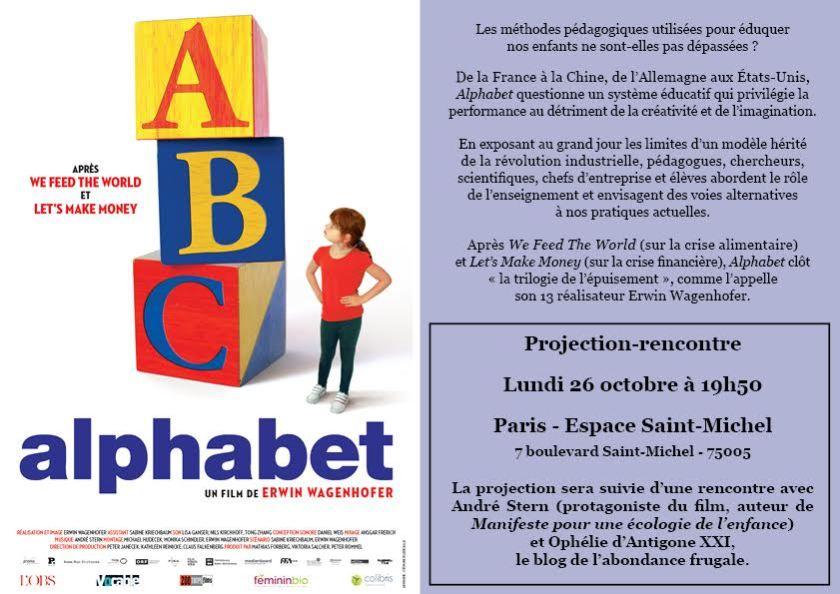 Alphabet le film - Antigone21.com