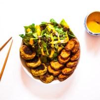 Falafels & patates douces rôties