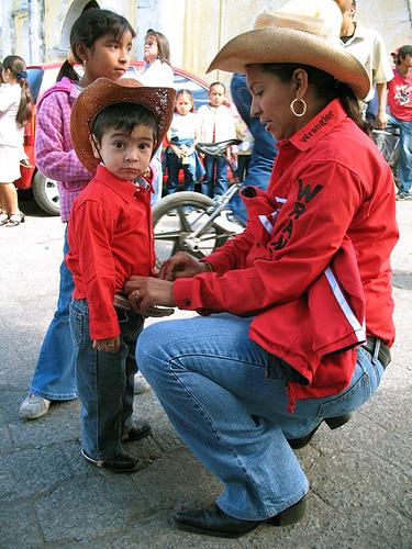 Cowgirl Mom and Cowboy Kid