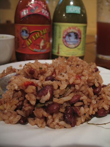 Guatemalan Cuisine: Rice and Beans Close-up
