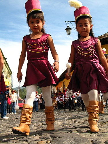 Pre-Primary School Girls in Uniform for Independence Day Celebrations