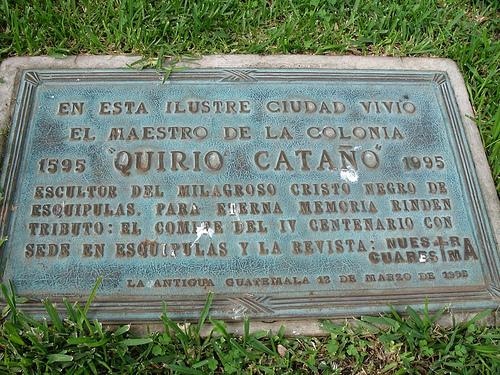 Quirio Cataño Plaque in Central Park