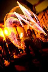 A lapdance on fire