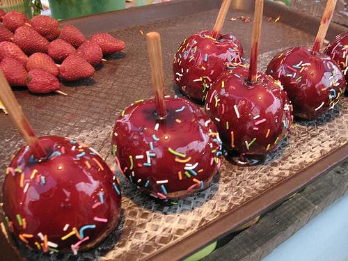 Feria Food: Manzanas encarameladas
