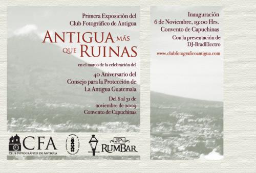 Invitación a la primera exposición del club