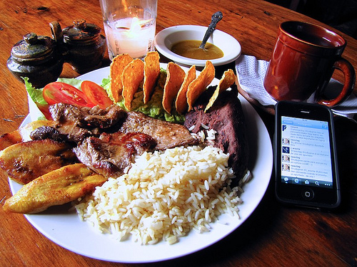 Typical Lunch from Travel Menu
