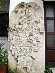 Mayan Stela Replica by Rudy Girón