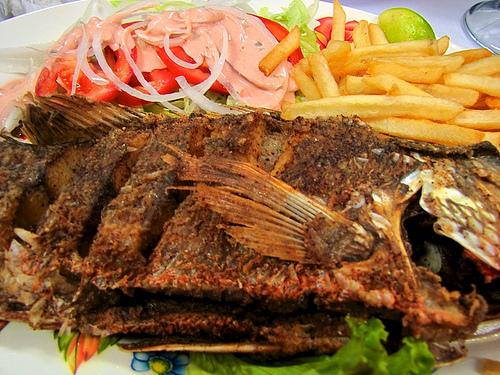 Guatemalan Cuisine: Pescado frito by Rudy Girón