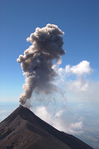 Fuego Volcano Erupting by Arturo Godoy