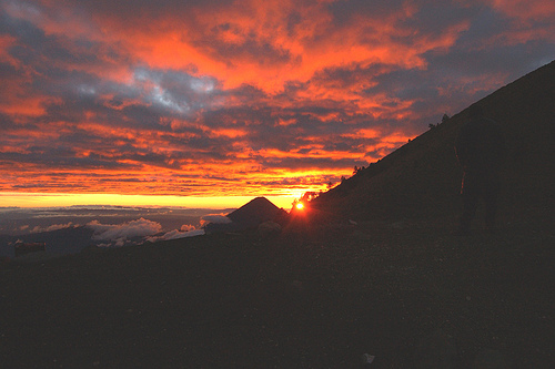 Sunrise on top of the world by Arturo Godoy