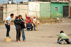 Scenes from the film Polvo: Filming by  Rudy Girón