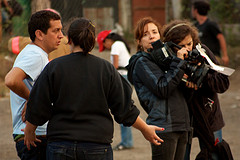 Scenes from the film Polvo: Filming Crew by  Rudy Girón