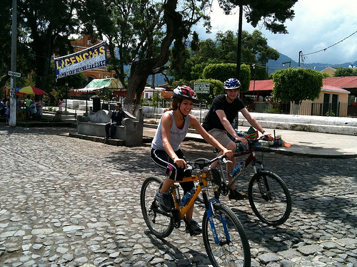 Bike Riding in Antigua Guatemala by Rudy Girón