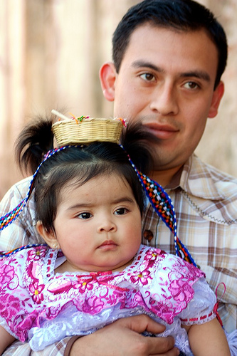 Father and daughter for Feast of Our Lady of Guadalupe by Rudy Girón