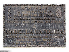 Isabel La Catolica Monument Plaque by Rudy Girón