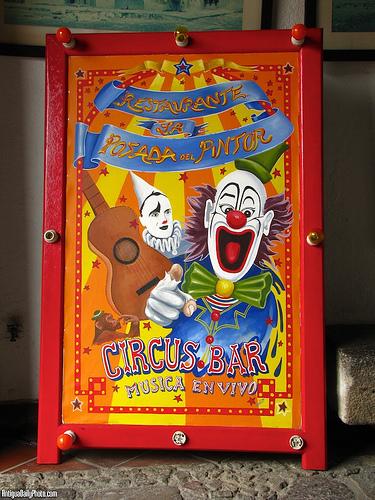Colorful Circus Bar Sign