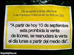 Ley seca por elecciones en Guatemala 2