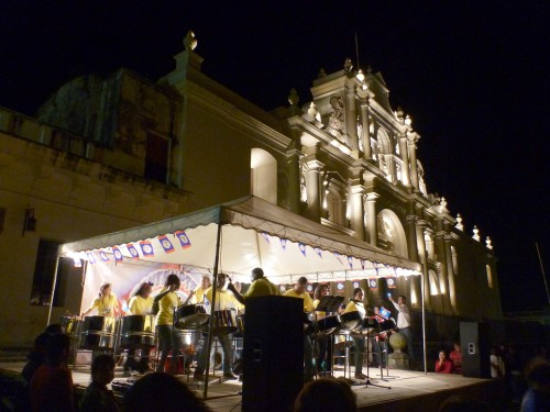 Pantempters Steel Orchestra in Antigua Guatemala (Photo by Darrin Brown)