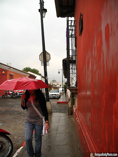Rain and Red