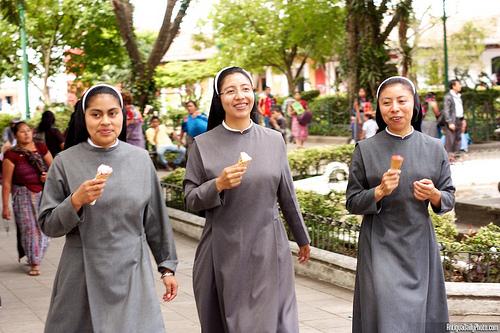 Three Ice Cream Eating Nuns
