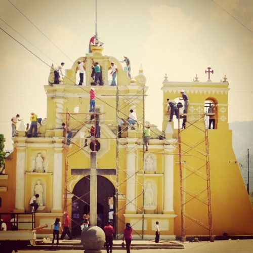 Volunteers Painted the San Miguel Escobar Church by Rudy Giron