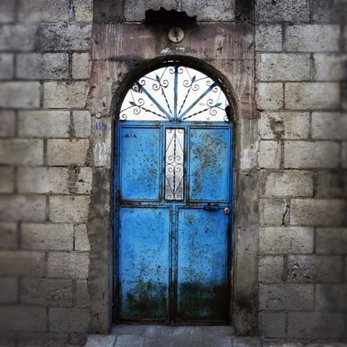 Colorful Blue Door by Rudy Girón