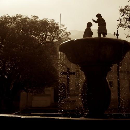 San Juan del Obispo Main Square Fountain by Rudy Giron