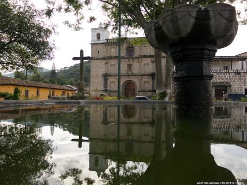 Iglesía Escuela de Cristo Reflected on a Fountain by Rudy Giron