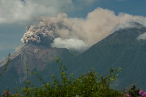 Fuego volcano erupting in Antigua Guatemala by Rudy Giron