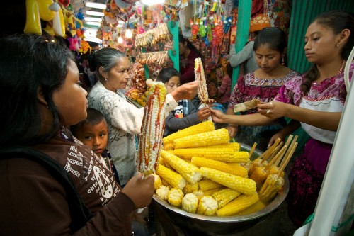 Touring the Guatemalan Town Fair: Who wants elotes locos? by Rudy Giron