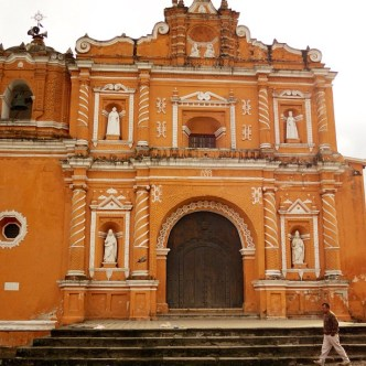 Façade of the Parroquia de San Pedro Las Huertas by Rudy Giron