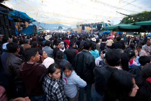 Touring the Guatemalan Town Fair- The Crowds by Rudy Giron