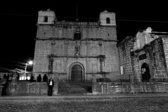 Black and White of Escuela de Cristo, aka Parroquia Nuestra Señora de los Remedios by Rudy Giron - www.rudygiron.com