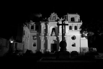 Iglesia de la Merced in Black and White by Rudy Giron