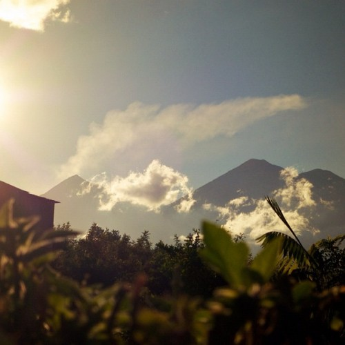 This is the Magic Hour to enjoy the Fuego & Acatenango Volcanoes by Rudy Giron