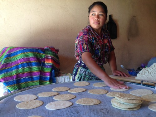 Freshly-cooked tortillas for breakfast, lunch and dinner