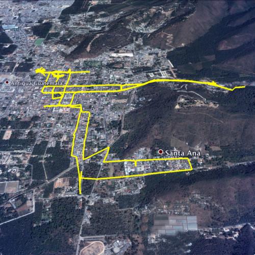 Map of Lent Sunday Processions: 4th Santa Ana by Nelo Mijangos