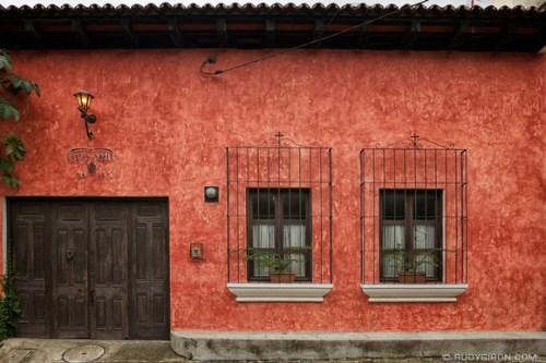 Rudy Giron: AntiguaDailyPhoto.com &emdash; Typical Façade of a Modern Antigua House