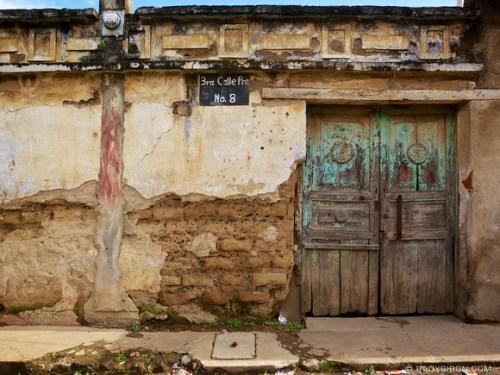 Rudy Giron: AntiguaDailyPhoto.com &emdash; Old house façade in Antigua Guatemala