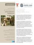 Conferencia Las sirenas de Antigua Guatemala y sus antecedentes históricos dictada por Miguel F. Torres
