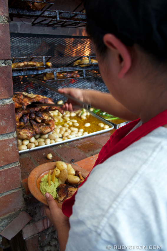 Rudy Giron: Antigua Guatemala &emdash; Charbroiled Chicken Lunch