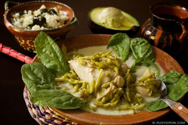 Guatemalan Cuisine Pollo En Crema Y Loroco Antiguadailyphoto Com