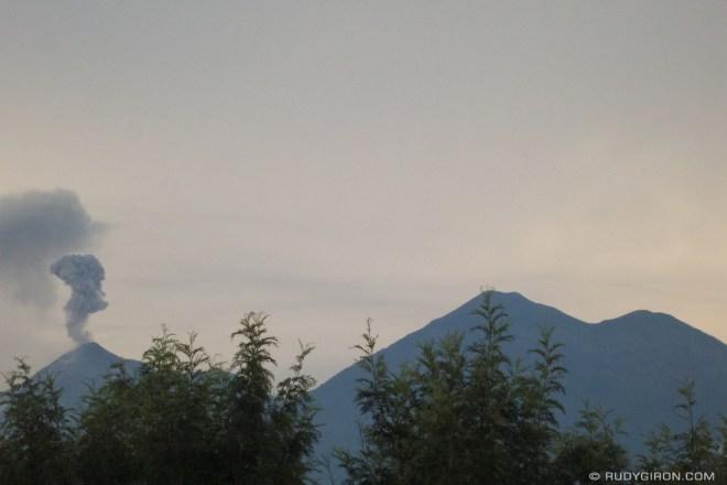 Rudy Giron: Antigua Guatemala &emdash; Rattle and Hum courtesy of Fuego volcano