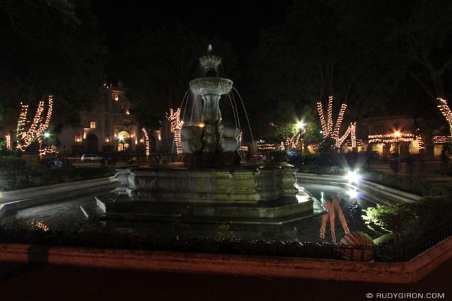 Rudy Giron: Antigua Guatemala &emdash; Mermaids fountain at night