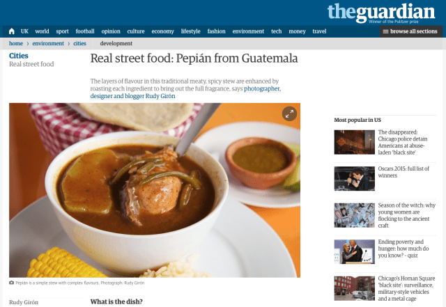Real street food: Pepián from Guatemala, an interview by The Guardian