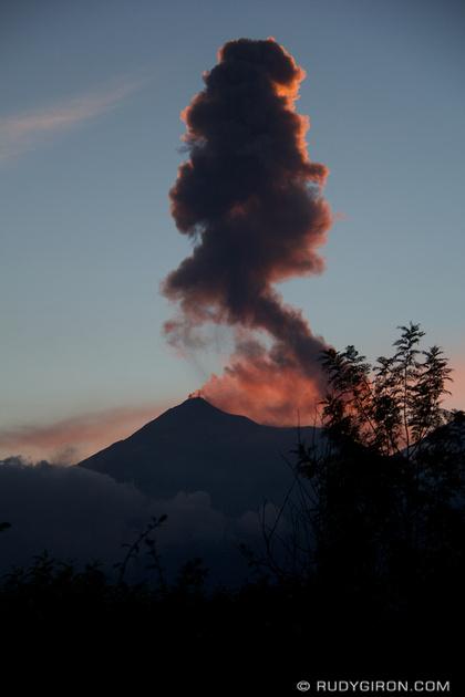 Rudy Giron: Antigua Guatemala &emdash; The Very Active Volcano Fuego, Antigua Guatemala